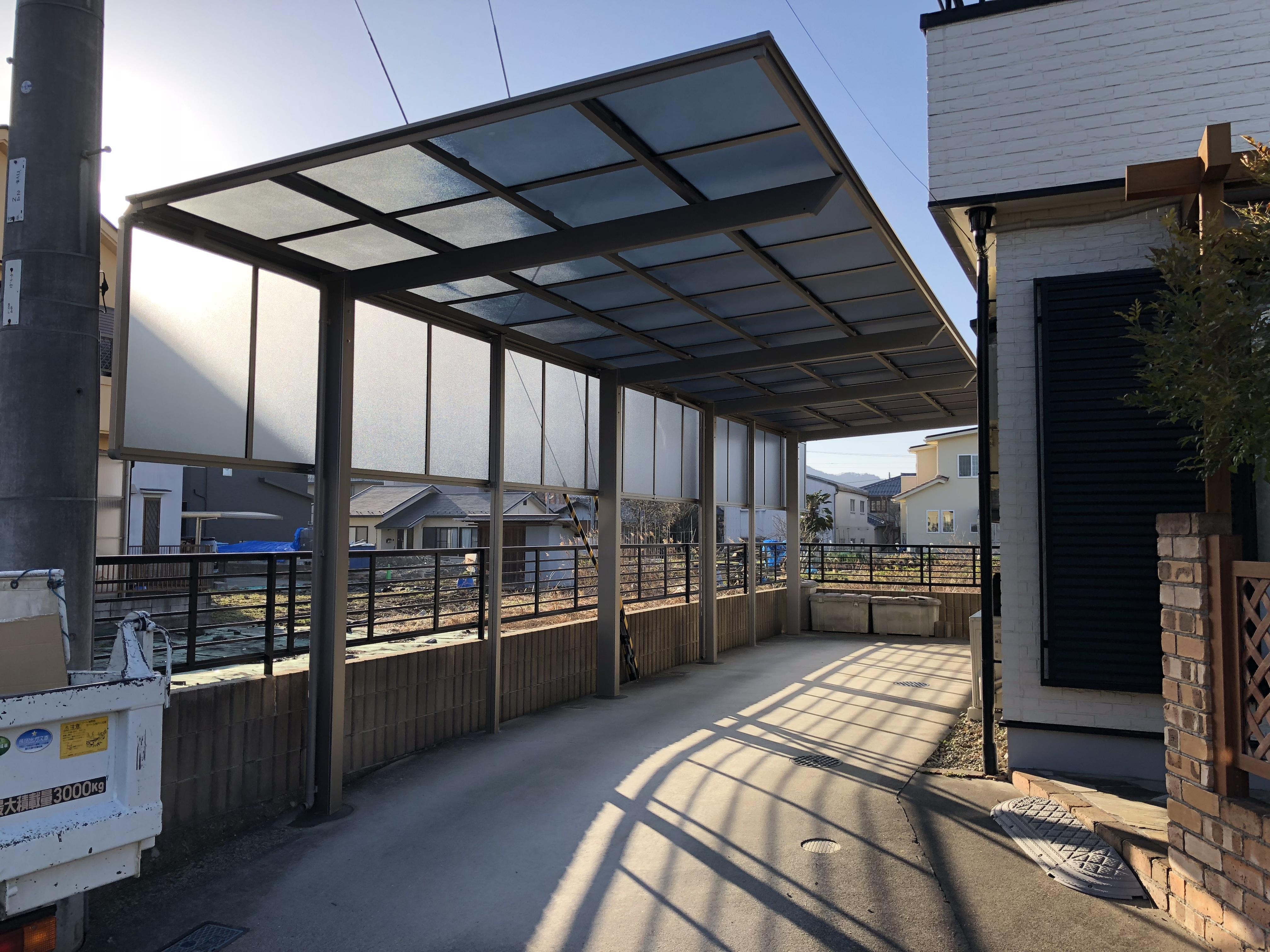 東近江市の造園・外構工事・留守宅管理なら花久造園へ カーポート修理、交換/東近江市